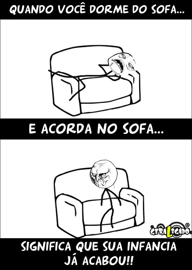 Quando você dorme no sofa...