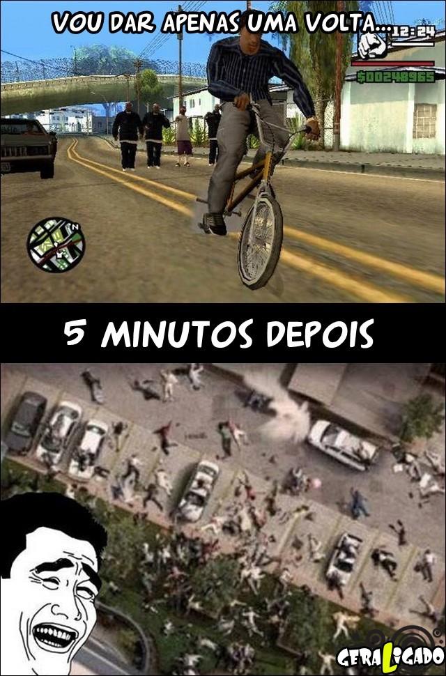 Quando você joga GTA é assim