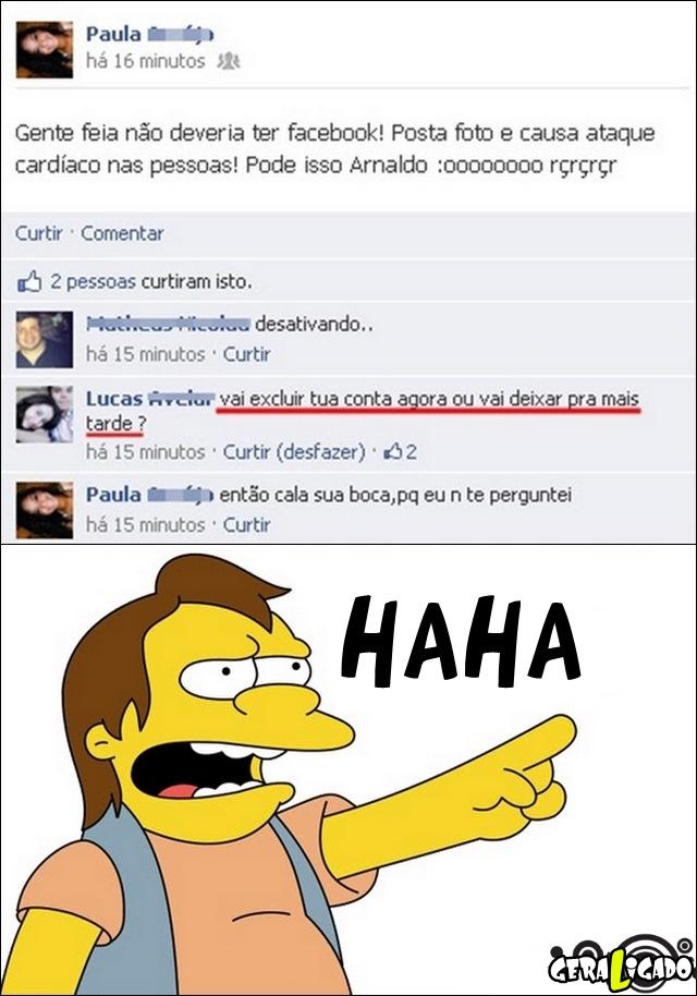 Gente feia não deveria ter Facebook