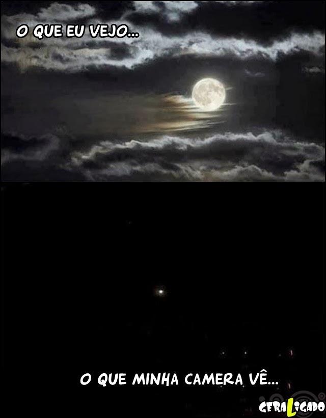 Quando eu tiro foto da lua...