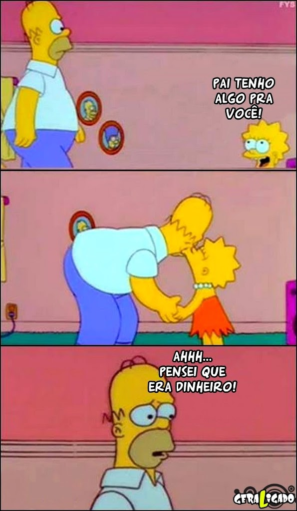 Homer Simpsons decepcionado!