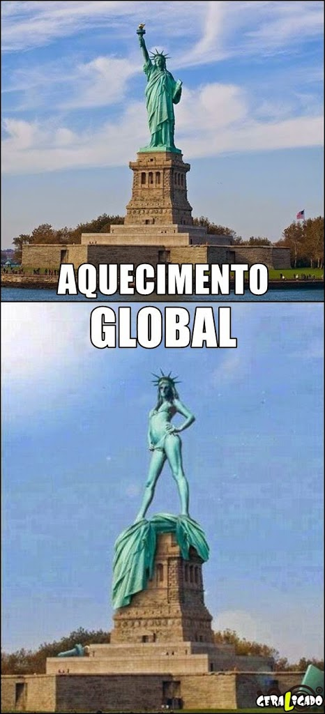 Efeito do aquecimento global!