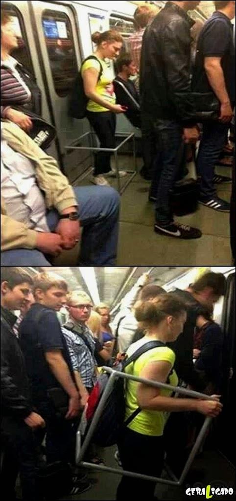Como acabar com os encoxadores no metro!