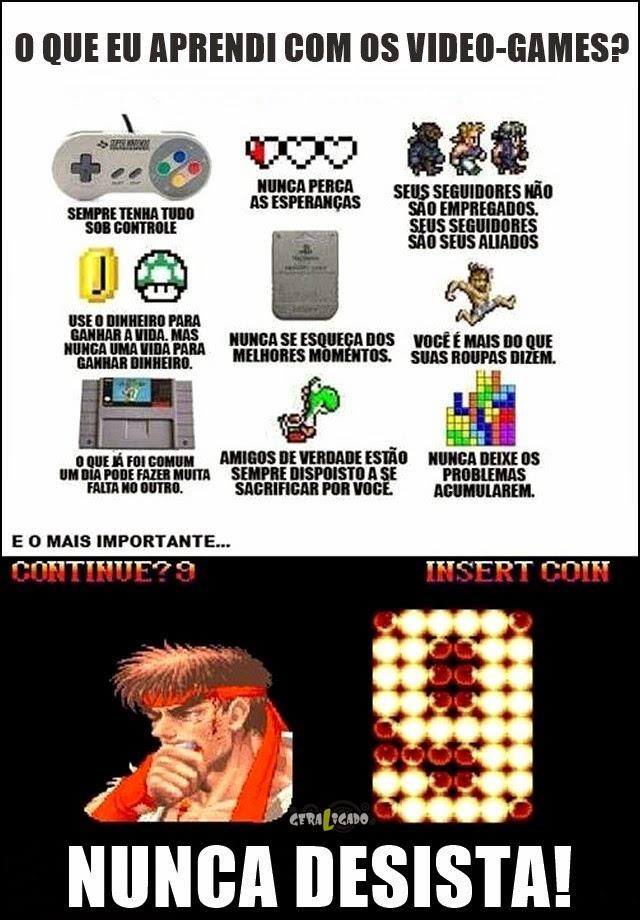 O que eu aprendi com os video-games!
