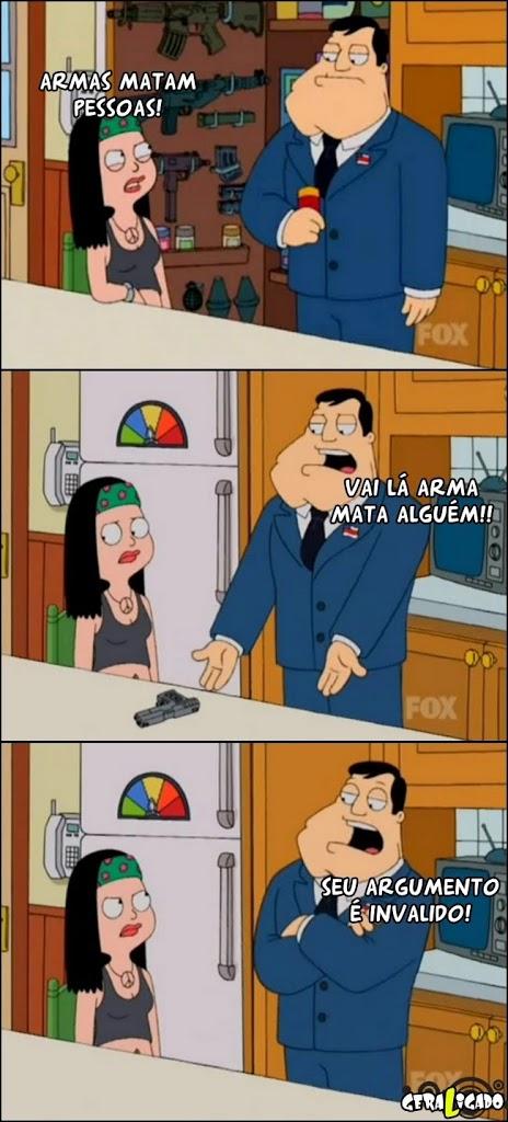 Armas matam as pessoas?!!