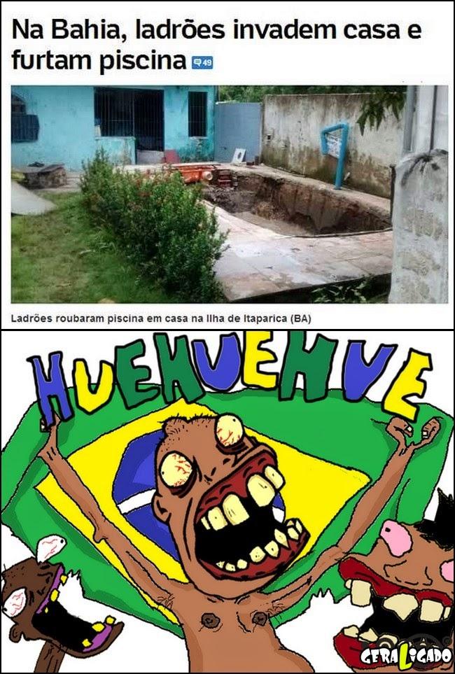 Na bahia, ladrões invadem casa e furtam piscina!