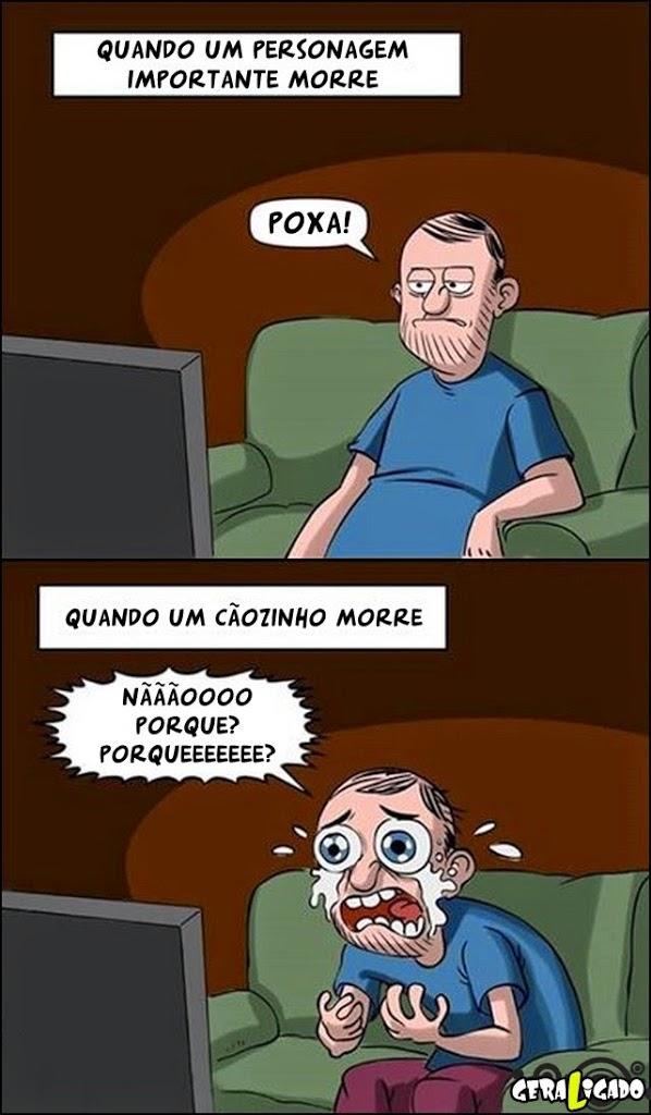 Homens assistindo filmes