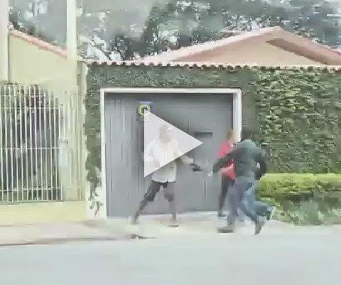 Dupla tenta assaltar casal, mas leva a pior em Curitiba!