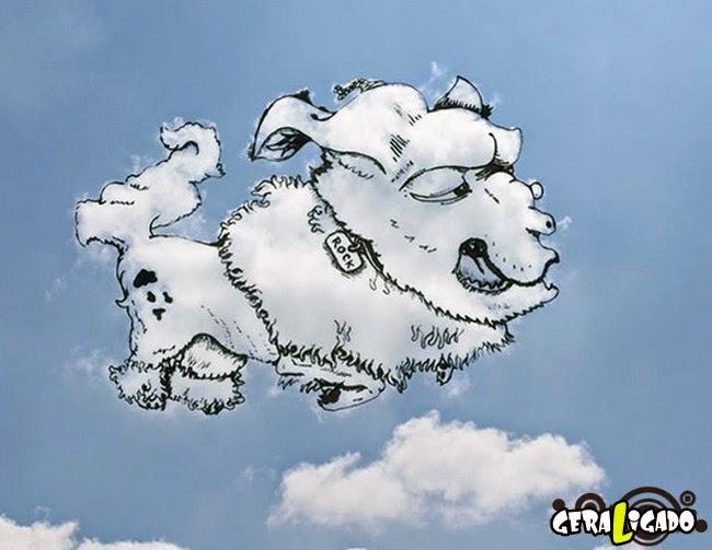 Artista usa nuvens como base para seus desenhos incríveis