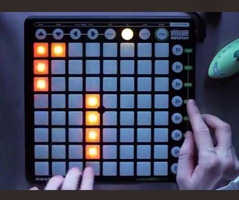 Tocando Tetris no Launchpad como um mito