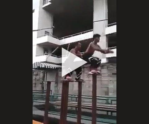 Malditos ninjas asiáticos, mal posso ver seus movimentos!