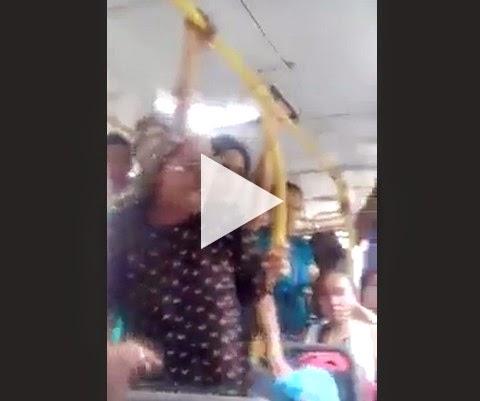 Mãe flagra filha pedindo esmola no ônibus para usar droga!
