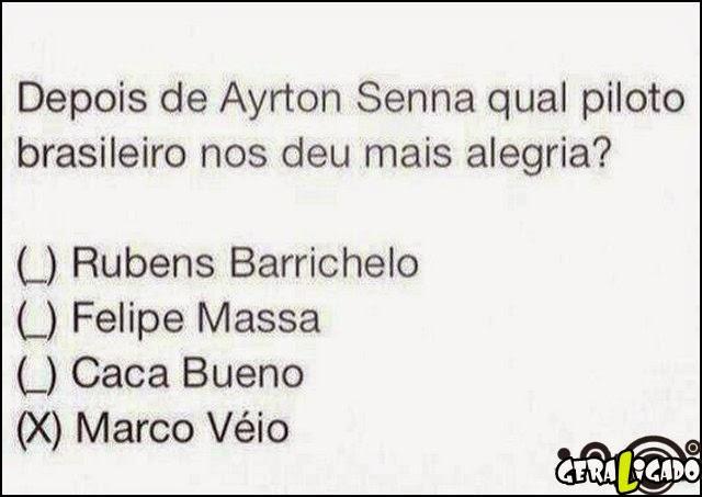 Depois de Ayrton Senna qual piloto brasileiro nos deu mais alegria