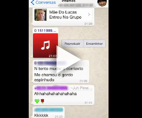 A mãe do Lucas entrou no grupo do whatsapp