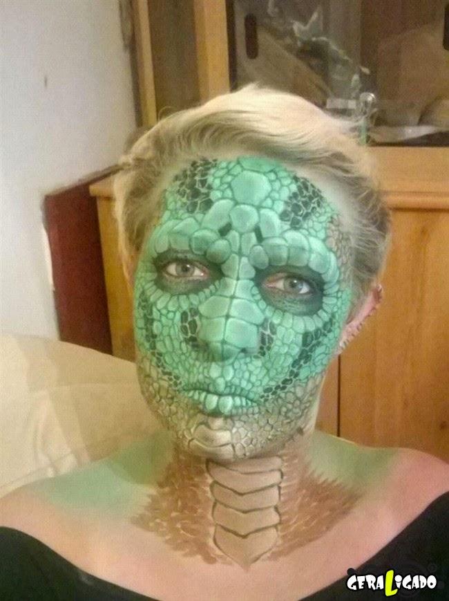 A mulher que se transforma em varios monstros