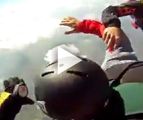 Novato saltando de paraquedas quase da merda!