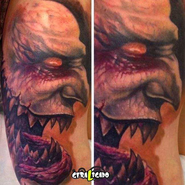 As tatuagens mais aterrorizantes do mundo