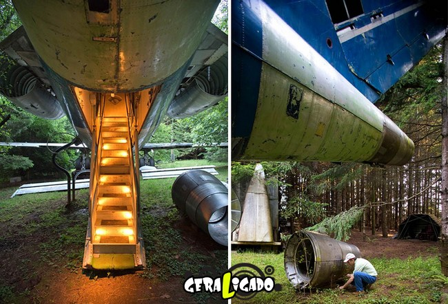 Você teria coragem de morar dentro de um avião velho1