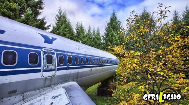 Você teria coragem de morar dentro de um avião velho6