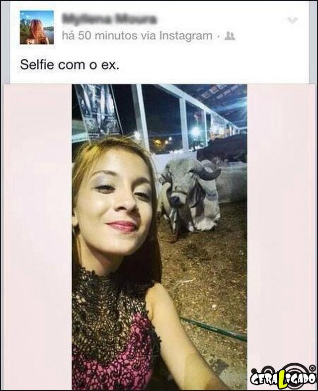 7 Selfie com o ex-namorado