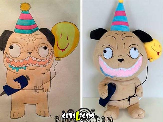 Empresa transforma desenhos em bonecos de pelúcia10