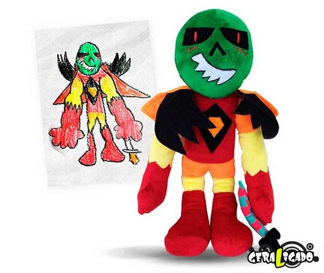Empresa transforma desenhos em bonecos de pelúcia3