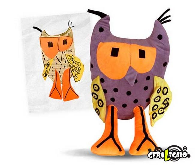 Empresa transforma desenhos em bonecos de pelúcia6