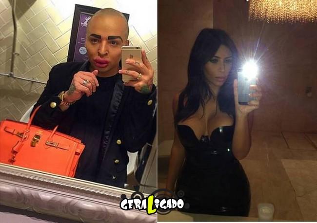 Homem gasta mais de R$ 420 mil para ficar parecido com Kim Kardashian8