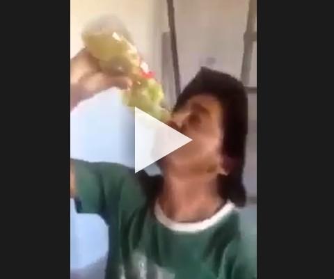O cara bebeu 1 litro de oleo por 20,00 reais