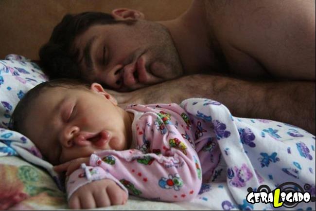 20 Imagens adoráveis de pais com suas versões mini
