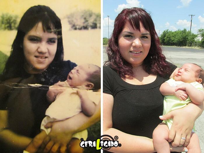 Filhos que se parecem  com seus pais quando mais novos12