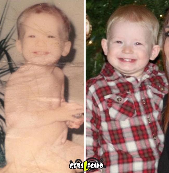 Filhos que se parecem com seus pais quando mais novos13