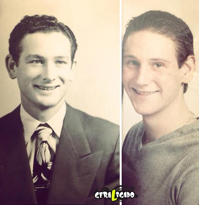 Filhos que se parecem com seus pais quando mais novos14