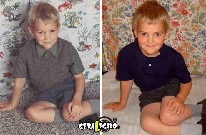 Filhos que se parecem com seus pais quando mais novos16