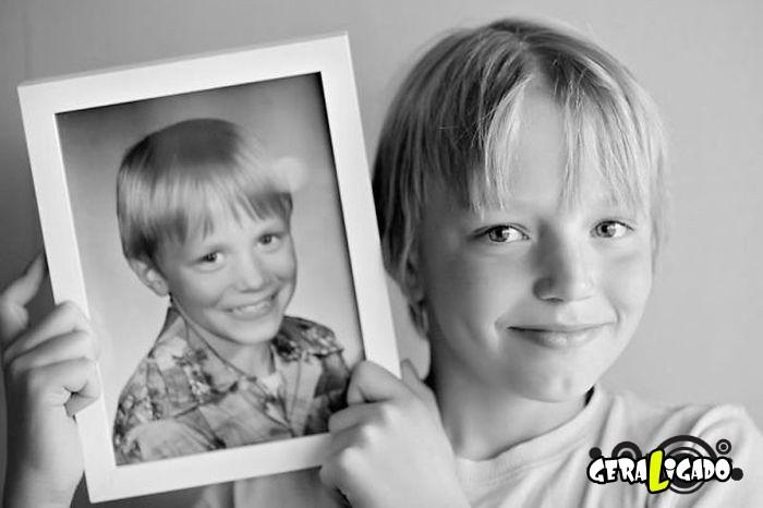Filhos que se parecem  com seus pais quando mais novos18