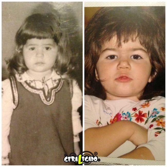 Filhos que se parecem  com seus pais quando mais novos25