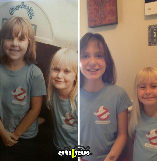 Filhos que se parecem com seus pais quando mais novos26