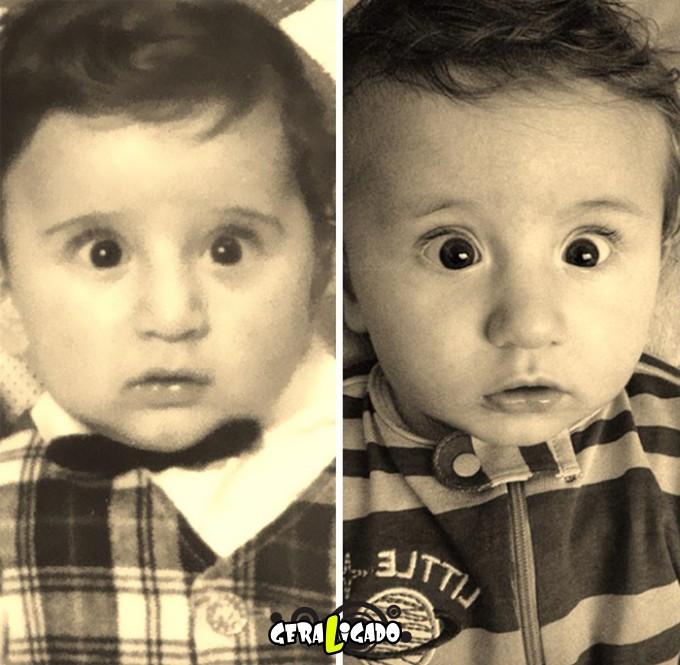 Filhos que se parecem com seus pais quando mais novos6