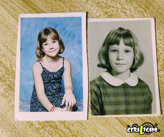 Filhos que se parecem com seus pais quando mais novos9