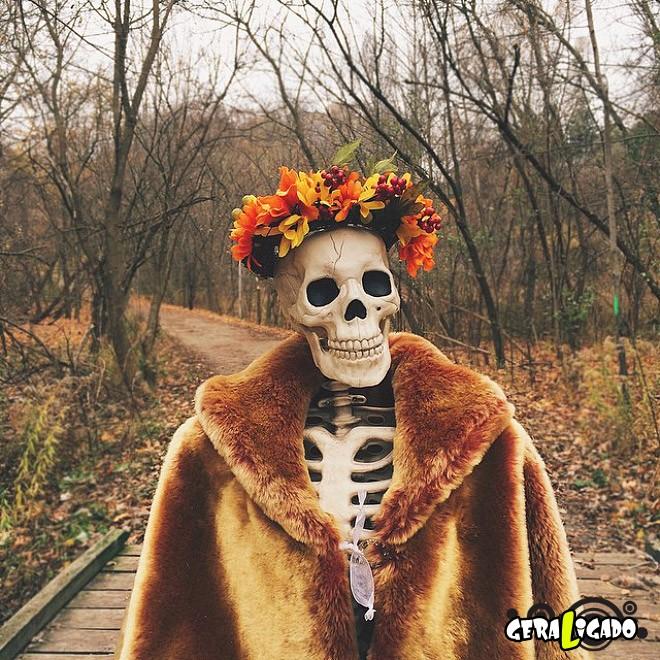 Skellie, um esqueleto que imita as garotas do Instagram4