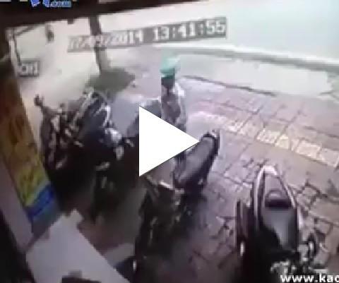 Tratamento vip pra ladrão de motos