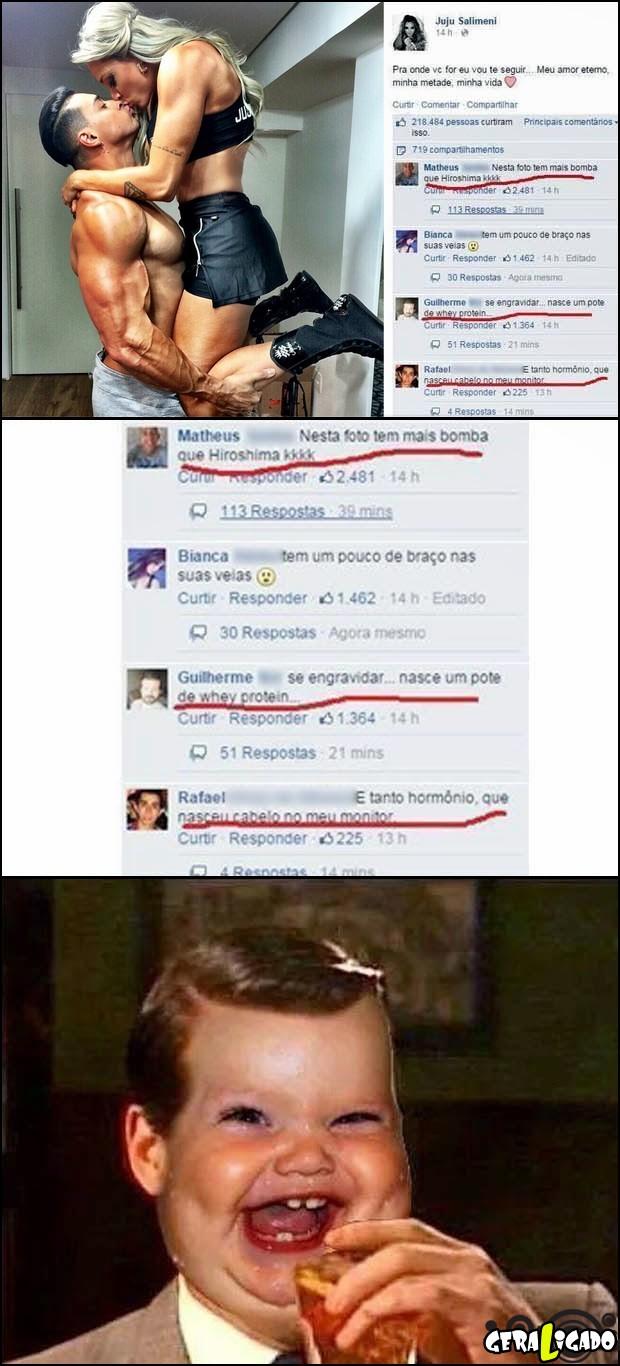 3 O melhor são os comentarios no facebook