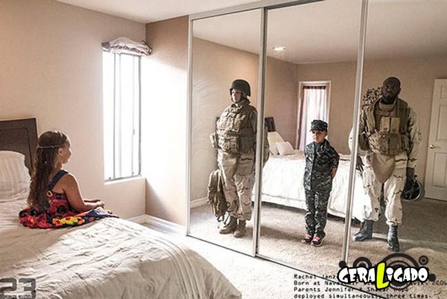 Fotográfico mostra os dois lados de quem é um soldado de guerra10