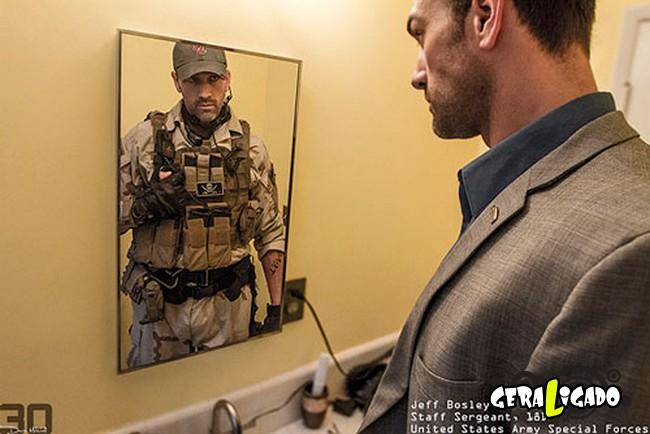 Fotográfico mostra os dois lados de quem é um soldado de guerra14