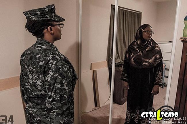 Fotográfico mostra os dois lados de quem é um soldado de guerra15