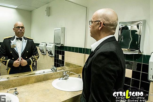 Fotográfico mostra os dois lados de quem é um soldado de guerra16