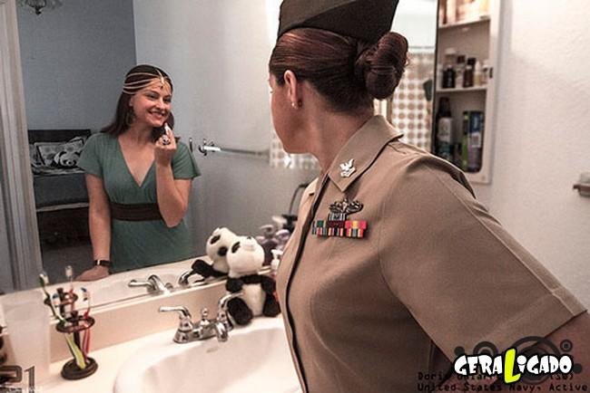 Fotográfico mostra os dois lados de quem é um soldado de guerra2