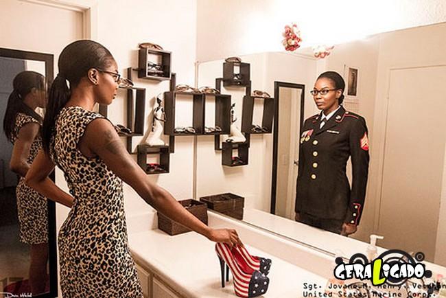 Fotográfico mostra os dois lados de quem é um soldado de guerra4