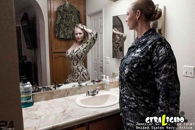 Fotográfico mostra os dois lados de quem é um soldado de guerra5
