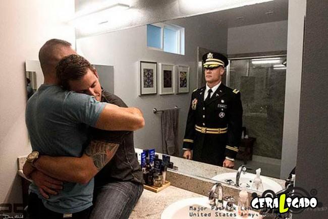 Fotográfico mostra os dois lados de quem é um soldado de guerra6